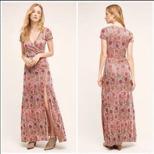 Anthropologie Cecilia Prado Floral Knit Maxi Dress
